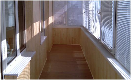 внутренняя обшивка балкона Днепр