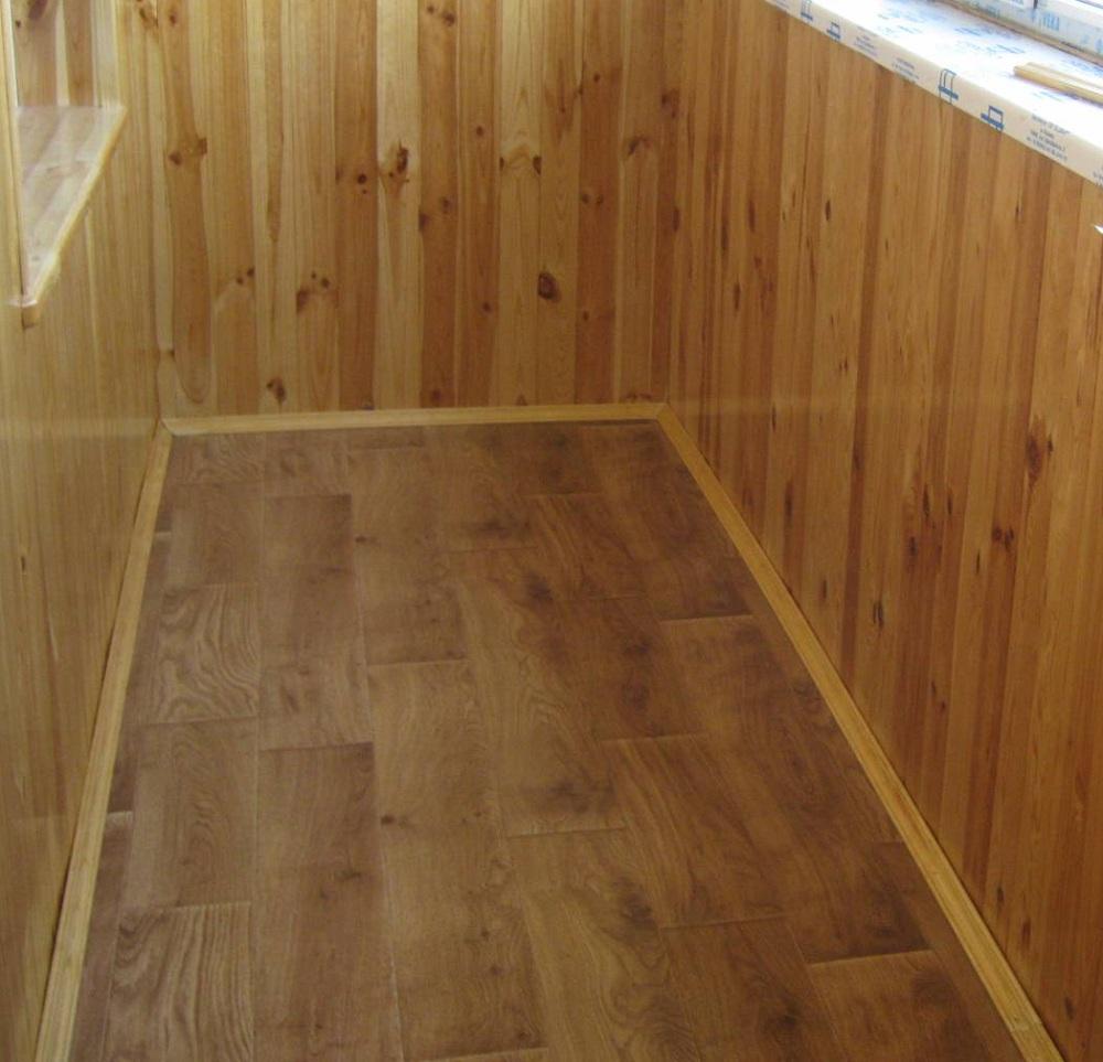 Теплый пол на балконе с уложенным ламинатом