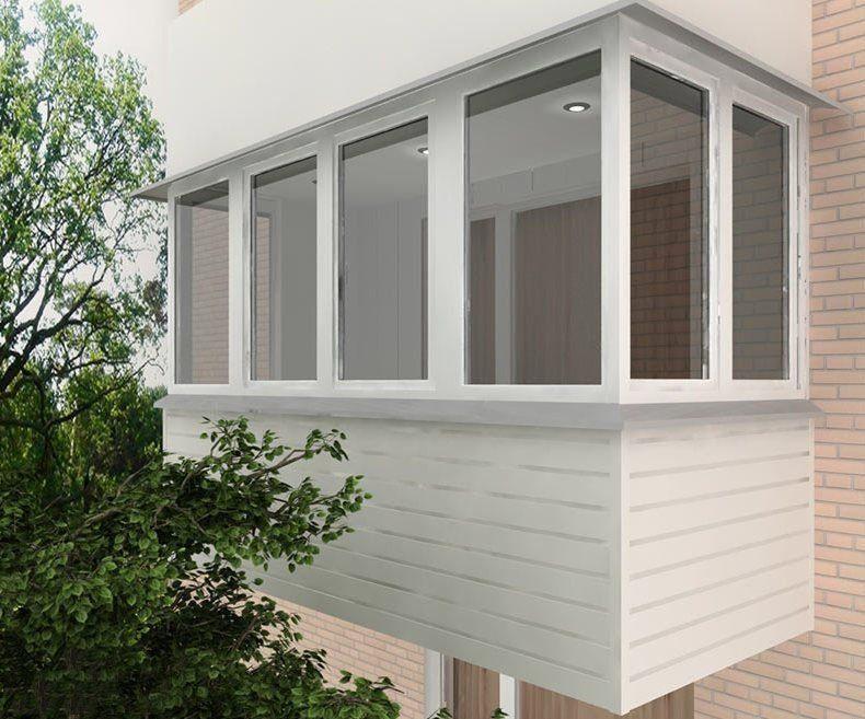 Заказать наружная обшивка балкона Днепр
