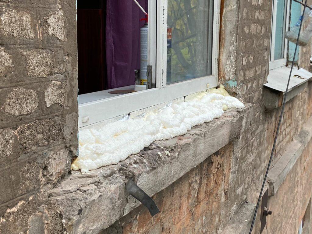 Установка отливов на металлопластиковые окна в Днепре